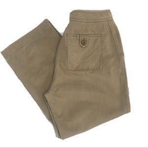 Ann Taylor Wide Leg Khaki Trouser Pants